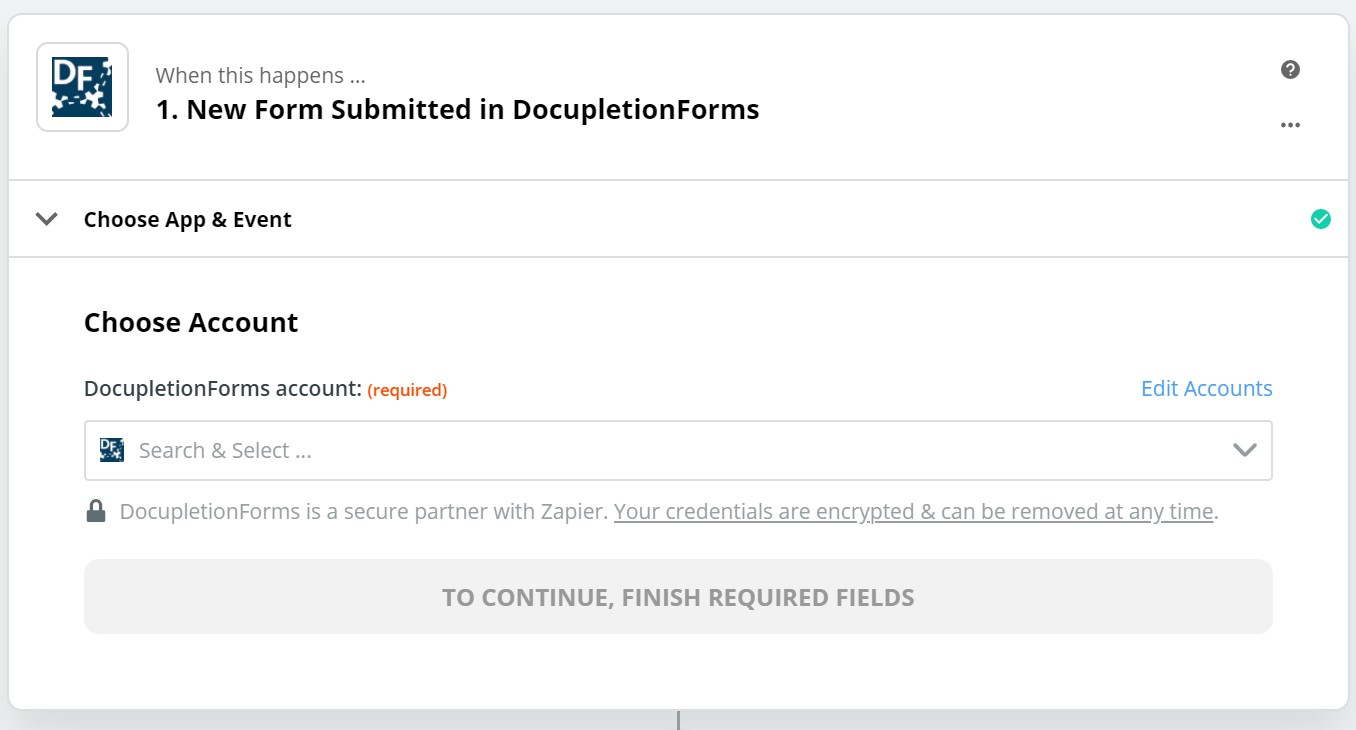 Click to connect DocupletionForms