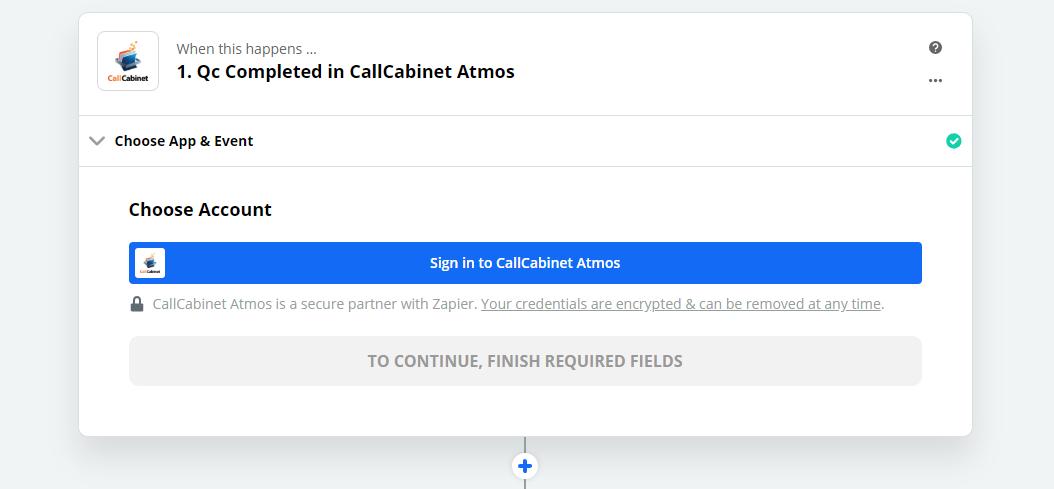 Click to connect CallCabinet Atmos