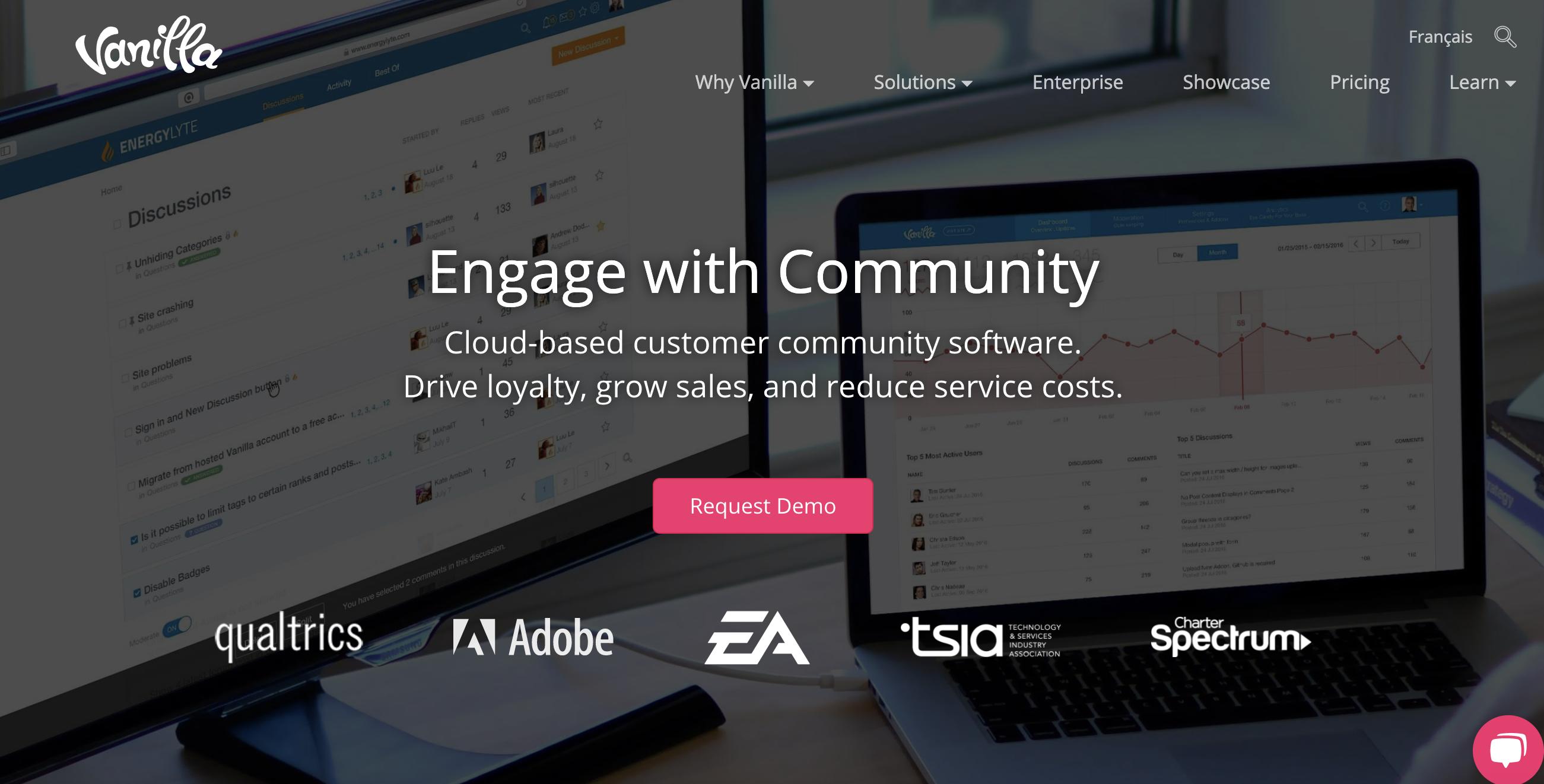 Vanilla Forums home page