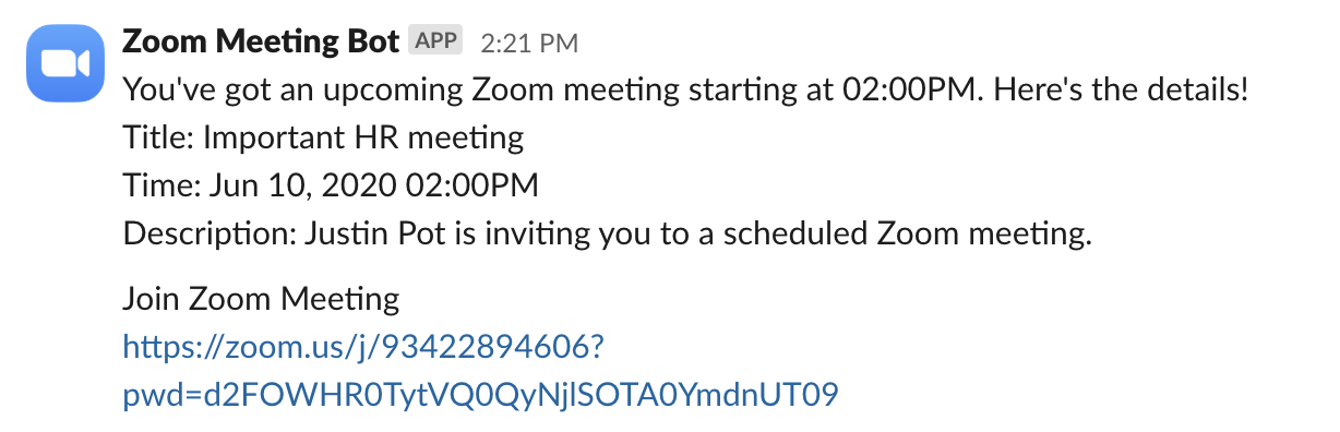 Zoom Meeting Bot in action
