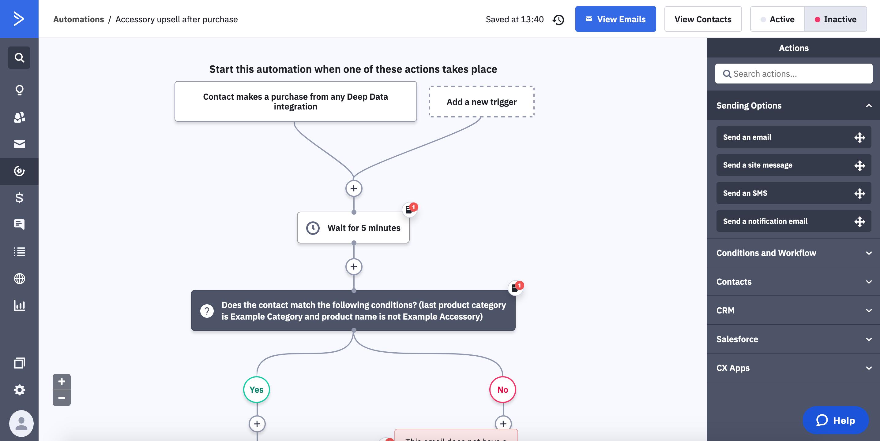 ActiveCampaign screenshot
