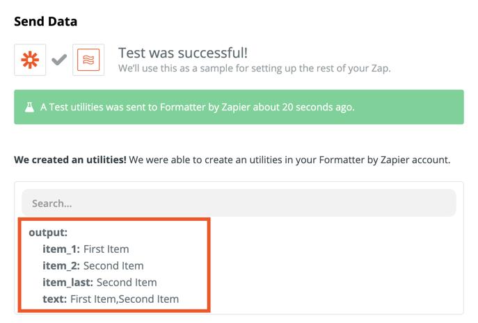Formatter by Zapier test.