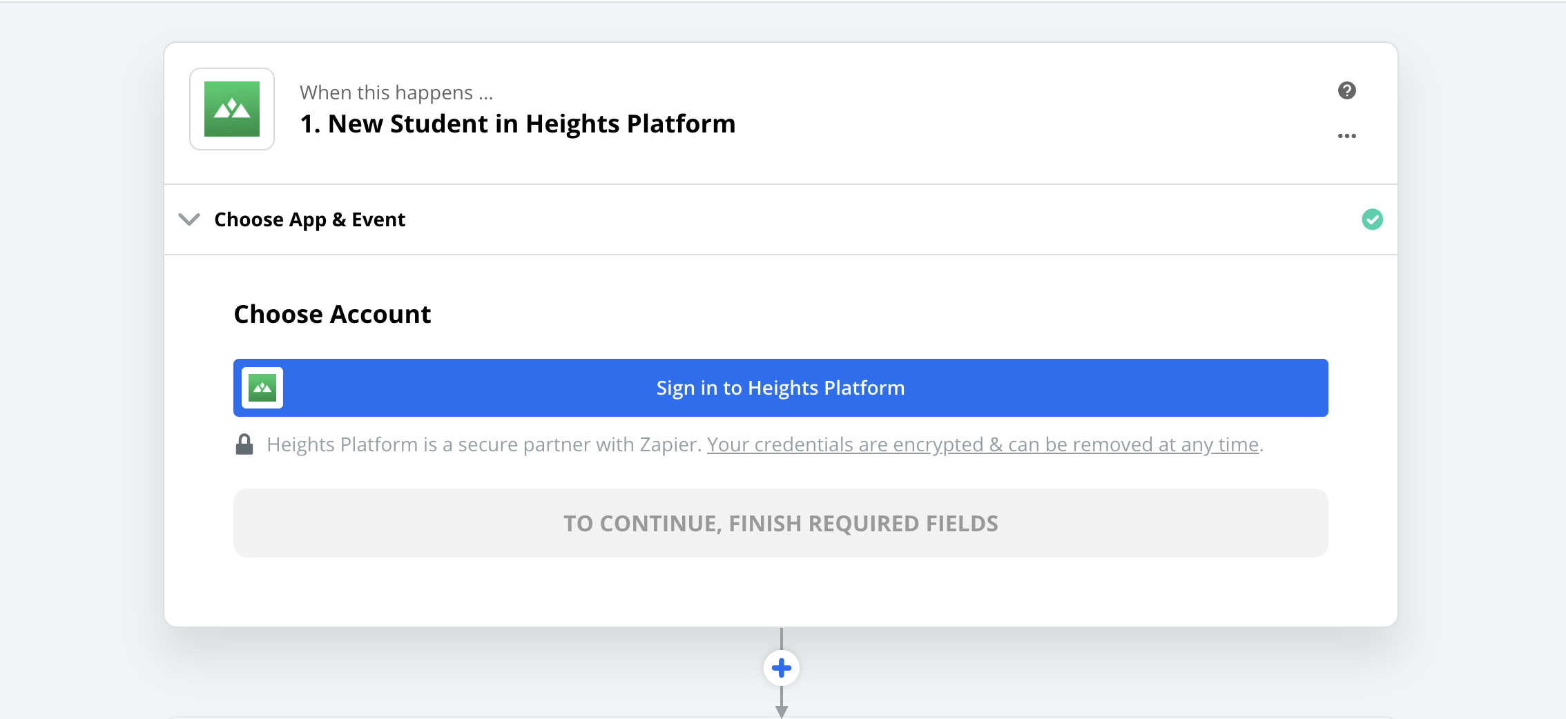 Click to connect Heights Platform
